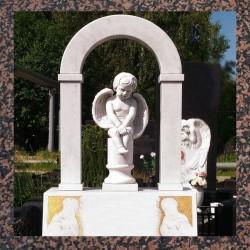 Пам'ятники надгробні габро, гранітні, мармурові
